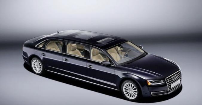 Audi растянула седан a8 l до шести метров