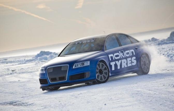 Audi rs6: установлен рекорд скорости на льду