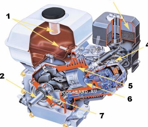 Бензиновый двигатель: устройство...