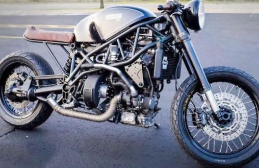 Биодизельный мотоцикл hormel bacon...