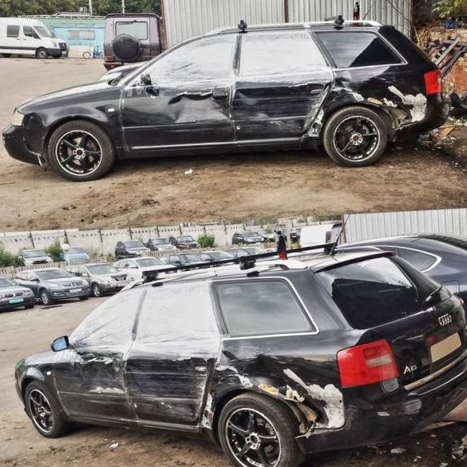 Что случается с машиной при столкновении...