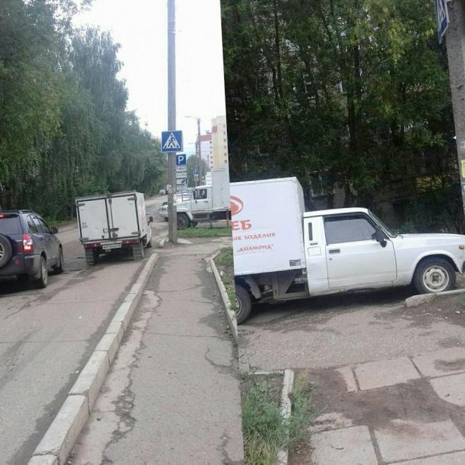 """Доска позора"": парковка на переходе..."