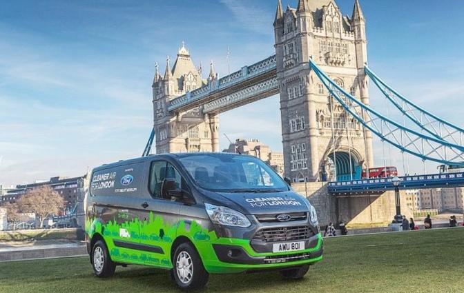 Ford transit с электромоторами проверят на улицах лондона