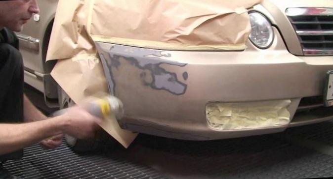 Как самостоятельно покрасить бампер машины?