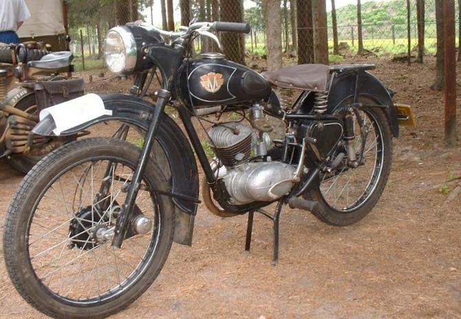 """Мотоцикл """"москва"""" 1951 года выпуска..."""