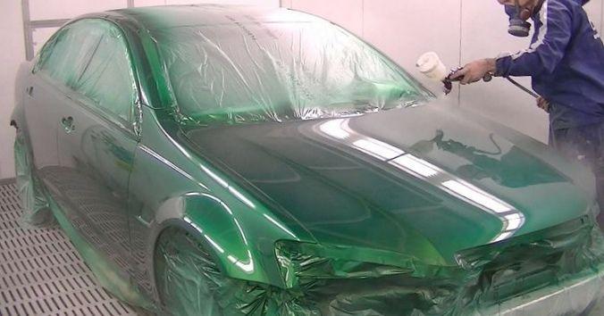 Особенности покраски автомобиля в металлик