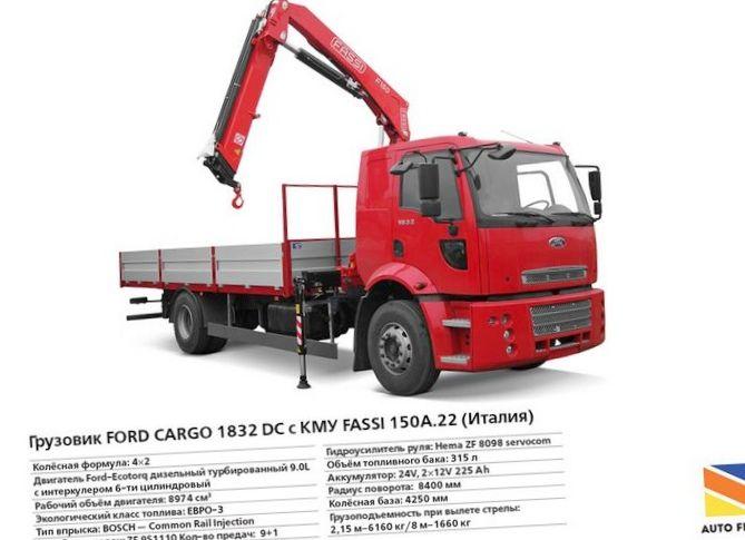 Показатели грузового автомобиля ford cargo