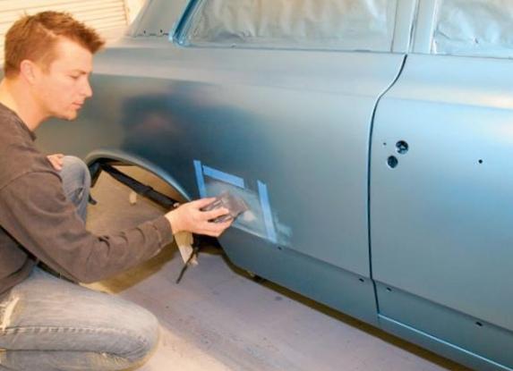 Покраска машину в домашних условиях